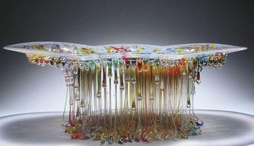 【衝撃】○○とガラスを使って作られた「海の生物」みたいな作品が話題に