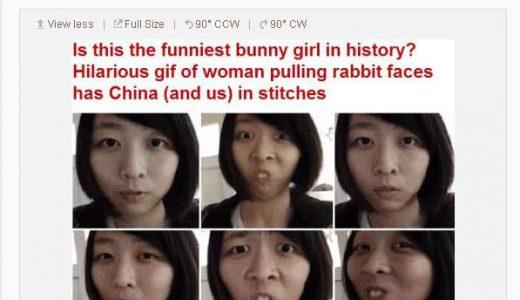 中国Weiboで「ウサギ女子」が15万以上リツイート大人気女子に!