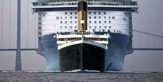 タイタニック号が沈没したようだ・・・「奴は四天王の中で最弱・・・」と思える船のサイズ