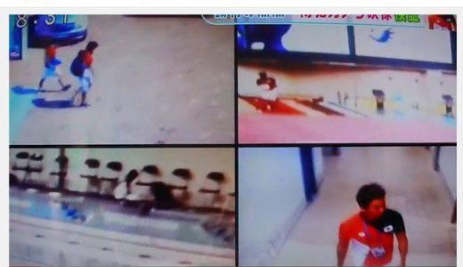 【速報】水泳冨田選手の監視カメラの高解像度映像が公開される